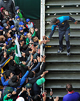 Cricket - 2019 ICC Cricket World Cup - Group Stage: Pakistan vs. Sri Lanka<br /> <br /> Hasan Ali comes out of the dressing room to meet the fans Rain delay, at The Bristol County Ground, Bristol.<br /> <br /> COLORSPORT/ANDREW COWIE
