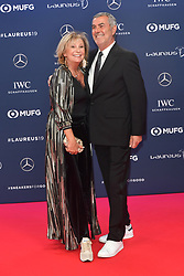 February 18, 2019 - Monaco, Monaco - Sabine Christiansen and Norbert Medus arriving at the 2019 Laureus World Sports Awards on February 18, 2019 in Monaco  (Credit Image: © Famous/Ace Pictures via ZUMA Press)