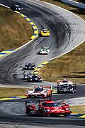 October 10-12, 2019: IMSA Weathertech Series, Petit Le Mans: #31 Whelen Engineering Racing Cadillac DPi, DPi: Felipe Nasr, Pipo Derani, Eric Curran leads the start of the Petit Le Mans 10hr