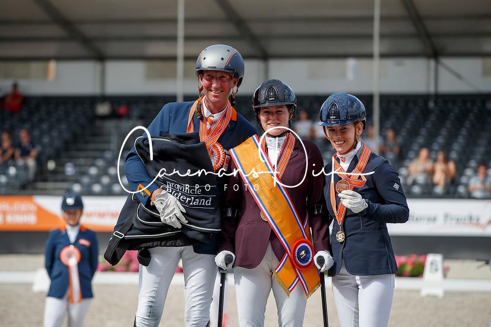 Podium Para Dressage, Voets Sanne, Hosmar Frank Van der Horst Rixt, NED<br /> Nederlands Kampioenschap Dressuur <br /> Ermelo 2018<br /> © Hippo Foto - Dirk Caremans<br /> 29/07/2018