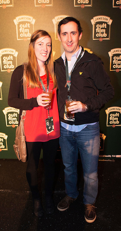 Darrach Dalton, Lorraine Murphy, Bohermore at the Jameson Cult Film Club screening of Friday the 13th Part 2 in the Black Box Theatre in Galway.  Photo:Andrew Downes