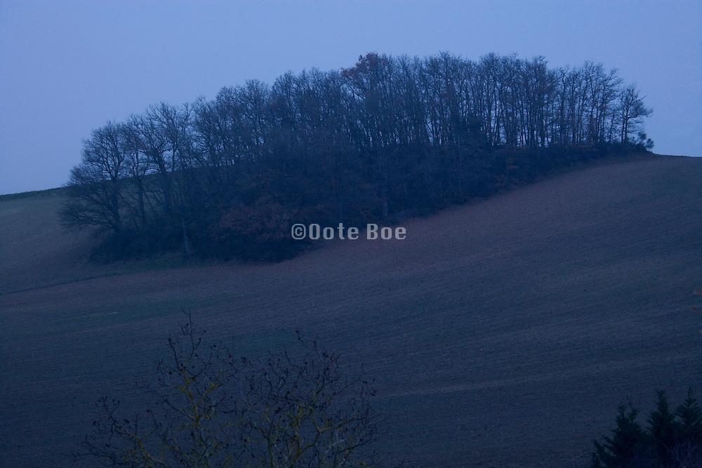 landscape during at dusk