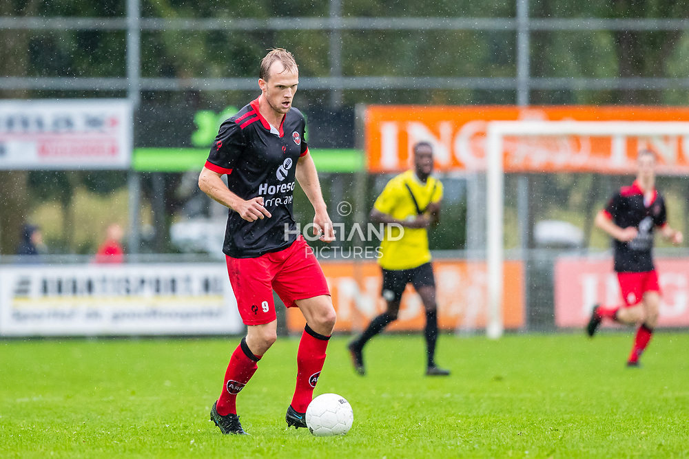 ALPHEN AAN DEN RIJN, NETHERLANDS - OCTOBER 2: #9 Thijs Hoogenboom (ARC) during the Hoofdklasse-A match between ARC and DHSC at Sportpark Zegersloot on October 2, 2021 in Alphen aan den Rijn, Netherlands
