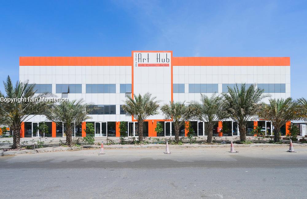 View of  Abu Dhabi Art Hub in Abu Dhabi United Arab Emirates