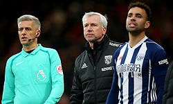 West Bromwich Albion manager Alan Pardew (centre) during the Premier League match at the Vitality Stadium, Bournemouth.