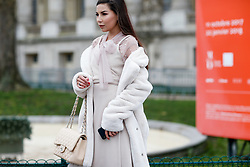 Street style, Karina Nigay arriving at Chanel Spring-Summer 2018 Haute Couture show held at Grand Palais, in Paris, France, on January 23rd, 2018. Photo by Marie-Paola Bertrand-Hillion/ABACAPRESS.COM