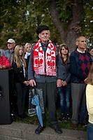 01.09.2011 Wilno N/z Polak w barwach narodowych na protescie oswiatowym fot Michal Kosc / AGENCJA WSCHOD