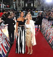 Alesha Dixon, Amanda Holden, Britain's Got Talent - London photocall, London Palladium, London UK, 29 January 2017, photo by Richard Goldschmidt