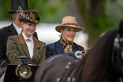 The Countess of Wessex and her daughter Lady Louise Windsor during the Royal Windsor Horse Show at Windsor Castle, Berkshire.