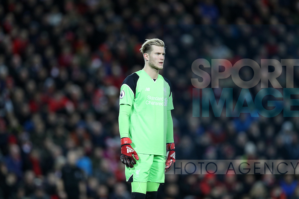 Loris Karius of Liverpool during the Premier League match at Anfield Stadium, Liverpool. Picture date: December 11th, 2016.Photo credit should read: Lynne Cameron/Sportimage