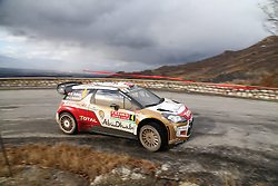 17.01.2014, Stage 10, Sisteron, FRA, FIA, WRC, Rallye Monte Carlo, 2. Tag, im Bild OSTBERG Mads / ANDERSSON Jonas ( CITROEN TOTAL ABU DHABI WRT (FRA) / CITROEN DS3 ), Aktion / Action // during Stage 10 on day two of FIA Rallye Monte Carlo held near Monte Carlo, France on 2014/01/17. EXPA Pictures © 2014, PhotoCredit: EXPA/ Eibner-Pressefoto/ Neis<br /> <br /> *****ATTENTION - OUT of GER*****