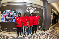Riders from the Diepsloot Academy at the Woolworths during the pre race events held at the V&A Waterfront in Cape Town prior to the start of the 2017 Absa Cape Epic Mountain Bike stage race held in the Western Cape, South Africa between the 19th March and the 26th March 2017<br /> <br /> Photo by Dominic Barnardt/Cape Epic/SPORTZPICS<br /> <br /> PLEASE ENSURE THE APPROPRIATE CREDIT IS GIVEN TO THE PHOTOGRAPHER AND SPORTZPICS ALONG WITH THE ABSA CAPE EPIC<br /> <br /> ace2016