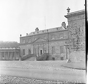 12/05/1958<br /> 05/12/1958<br /> 12 May 1958<br /> <br /> Architecture - Russborough House, Home of Sir Alfred and Lady Beit<br /> <br /> Russborough House is a stately house situated near the Blessington Lakes in County Wicklow, Ireland, between the towns of Blessington and Ballymore Eustace and is reputed to be the longest house in Ireland, with a frontage measuring 700 ft. It is an example of Palladian architecture, designed by Richard Cassels for Joseph Leeson, 1st Earl of Milltown and built between 1741 and 1755. The interior of the house contains some ornate plasterwork on the ceilings by the Lafranchini brothers, who also collaborated with Cassels on Carton House.<br />