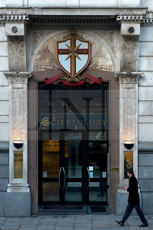 © Licensed to London News Pictures.11/12/2013. London, UK. A general view of the  Church of Scientology building in London. Photo credit : Peter Kollanyi/LNP