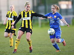 Abergavenny FC Women v Cardiff City FC<br /> <br /> Photographer Mike Jones / Replay Images<br /> Pen-Y-Pound, Abergavenny <br /> Wales - 2nd May 2018<br /> Abergavenny FC Women v Cardiff City FC Welsh Premier Women's League<br /> <br /> World Copyright © Replay Images . All rights reserved. info@replayimages.co.uk - http://replayimages.co.uk