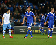 Marouane Chamakh of Cardiff city © looks on.  EFL Skybet championship match, Cardiff city v Sheffield Wednesday at the Cardiff city stadium in Cardiff, South Wales on Wednesday 19th October 2016.<br /> pic by Andrew Orchard, Andrew Orchard sports photography.