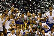 Belo Horizonte_MG, 30 de Abril de 2011..SUPERLIGA FEMININA FINAL..Jogadores de Unilever / RJ e do Sollys / Osasco disputam o titulo de campeao brasileiro em partida realizada no estadio do Mineirinho, em Belo Horizonte.O Unilever/RJ sagrou-se campeao vencendo o jogo por 3 sets a 0...FOTO: MARCUS DESIMONI / NITRO......