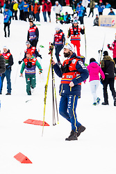 January 6, 2018 - Val Di Fiemme, ITALY - 180106 Rikard Grip, coach of Sweden, watches men's 15km mass start classic technique during Tour de Ski on January 6, 2018 in Val di Fiemme..Photo: Jon Olav Nesvold / BILDBYRN / kod JE / 160123 (Credit Image: © Jon Olav Nesvold/Bildbyran via ZUMA Wire)