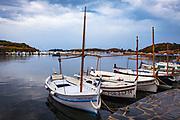 Sailing boats, Cala de Portlligat, Cadaques, Catalonia, Spain