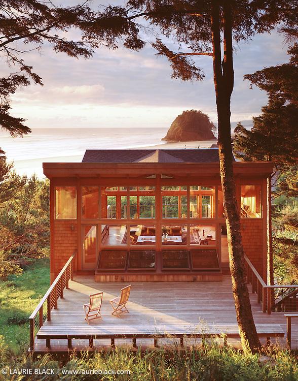 Sunny contemporary beach house.