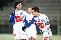 FOOTBALL - FRENCH CUP 2009/2010 - 1/8 FINAL - 10/02/2010 - AJ AUXERRE v STADE PLABENNECOIS - PHOTO ERIC BRETAGNON / DPPI - JOY AUXERRE