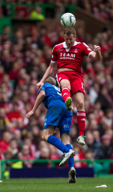 Scottish League Cup Final Aberdeen V Inverness CT at Parkhead on Sunday, 16th of March 2014, Aberdeen Scotland.<br /> Pictured: Adam Rooney and Richie Foran<br /> (Photo Ross Johnston/Newsline Scotland)