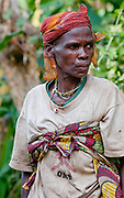 Pygmy woman from Bwindi, Uganda.