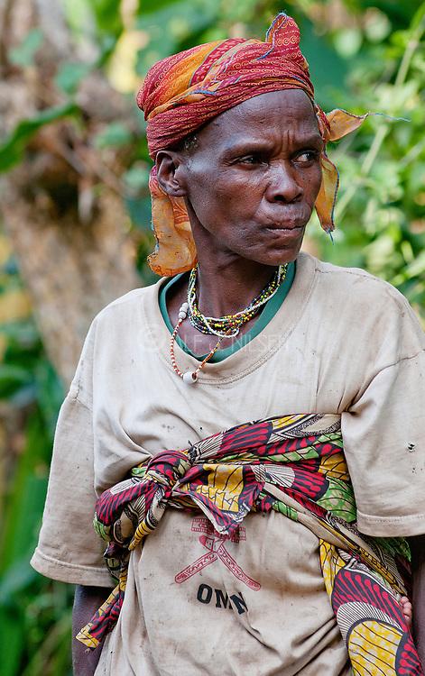Pygmy woman from Bwindi, Uganda.