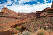 Stevens Natural Arch sits next to the Escalante River near Coyote Gulch, Grand Staircase-Escalante National Monument, Utah.