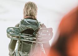 THEMENBILD - eine Wanderin mit Rucksack und Schneeschuhen am Rücken, aufgenommen am 16. Februar 2019 in Maria Alm, Oesterreich // a hiker with a backpack and snowshoes on her back, in Maria Alm, Austria on 2019/02/16. EXPA Pictures © 2019, PhotoCredit: EXPA/Stefanie Oberhauser
