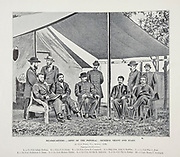 """Army of the Potomac - General Grant and Staff at City Point Va, from The American Civil War book and Grant album : """"art immortelles"""" : a portfolio of half-tone reproductions from rare and costly photographs designed to perpetuate the memory of General Ulysses S. Grant, depicting scenes and incidents in connection with the Civil War Published  in Boston and New York by W. H. Allen in 1894"""