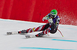 12-02-2011 SKIEN: FIS ALPINE WORLD CHAMPIONSSHIP: GARMISCH PARTENKIRCHEN<br /> Bode Miller (USA) takes to the air competing in the men's downhill race on the Kandahar race piste<br /> **NETHERLANDS ONLY**<br /> ©2011-WWW.FOTOHOOGENDOORN.NL/EXPA/ J. Feichter