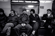 Billy Bragg with Peter Jenner and Chris Salewicz in Moscow 1988