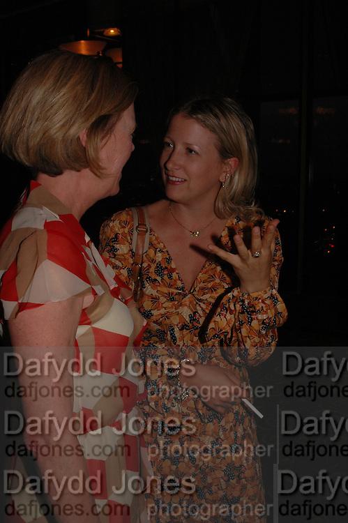 Emma Soames and Daisy Garnett, Telegraph magazine 40th anniversary, Windows, London Hilton. 6 September 2004. SUPPLIED FOR ONE-TIME USE ONLY-DO NOT ARCHIVE. © Copyright Photograph by Dafydd Jones 66 Stockwell Park Rd. London SW9 0DA Tel 020 7733 0108 www.dafjones.com