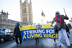 2019-01-22 Joint MoJ & BEIS outsourced workers strike