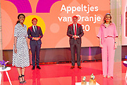 HILVERSUM, 9-7-2020 Koningin Maxima tijdens de online bekendmaking vande winnaars van de Appeltjes van Oranje van het Oranje Fonds. Drie felicitatieteams reiken op locatiede prijzen uit aan de winnaars. Vanwege de maatregelen omtrent het coronavirus kan de traditionele<br /> uitreiking op Paleis Noordeinde niet doorgaan.<br /> <br /> Queen Maxima during the online announcement of the winners of the Appeltje van Oranje of the Oranje Fonds. Three congratulatory teams will hand out the prizes to the winners on location. Due to the coronavirus measures, the traditional the ceremony at Noordeinde Palace will not take place