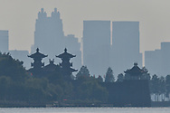 Landscape photography of the East Lake Greenway park, Wuhan, Hubei, China