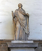 Roman marble sculpture of woman 'Sabine' from the era of Trajan. Early second century AD, but underwent significant modern restoration. Currently held in the Loggia della Signoria, Florence, Italy.