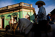 Annual horse parade where rich and poor alike show off their horses in the colonial town of Granada part of the summer festivities around the country, Nicaragua
