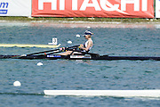 Munich, GERMANY, A Final GBR  LW1X , Andrea DENNIS, on Sunday Finals Day, at the FISA World Cup Munich, held on the Olympic Rowing Course, 11/05/2008    [Mandatory Credit Peter Spurrier/ Intersport Images] Rowing Course, Olympic Regatta Rowing Course, Munich, GERMANY