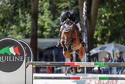 GRIESE Henrik (GER), Pikeur Lord Fauntleroy<br /> Paderborn - OWL Challenge 5. Etappe BEMER Riders Tour 2019<br /> Finale Mittlere Tour (CSI3*/CSIU25-EY Cup) <br /> Wertung zum European Youngster Cup<br /> Springprüfung mit Stechen<br /> Prüfung zählt für das Longines Ranking <br /> 15. September 2019<br /> © www.sportfotos-lafrentz.de/Stefan Lafrentz