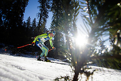 Fredrik Lindstroem (SWE) during Men 15 km Mass Start at day 4 of IBU Biathlon World Cup 2015/16 Pokljuka, on December 20, 2015 in Rudno polje, Pokljuka, Slovenia. Photo by Ziga Zupan / Sportida