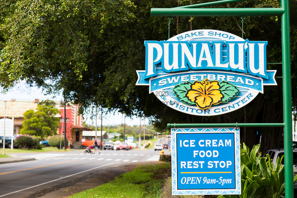 Punalu'u bakery, famous for its Portuguese Sweet Bread, in the village of Punalu'u in the district of Ka'u on the Big Island of Hawaii, USA, America