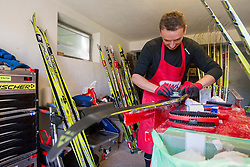 Martin Bialek during Training camp of Slovenian Cross country Ski team on October 23, 2012 in Ramsau am Dachstein, Austria. (Photo By Vid Ponikvar / Sportida)