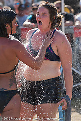 Lindsey Rader at the Womens Cole Slaw Wrestling at Sopotnicks Cabbage Patch Bar, New Smyrna Beach, during Daytona Bike Week's 75th Anniversary event. FL, USA. Saturday March 12, 2016.  Photography ©2016 Michael Lichter.