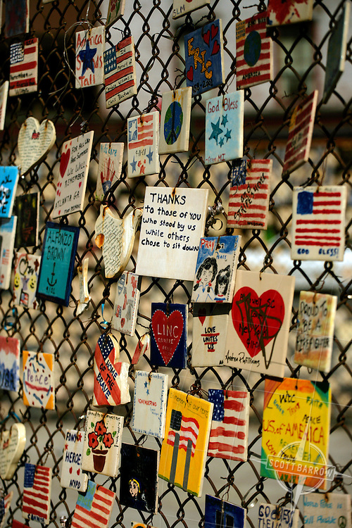 Tiles for America project as a memorial for 911.  Greenwich Village, NY,NY.
