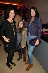 Left to right, MOLLIE DENT-BROCKLEHURST, her daughter VIOLET WARD and MARY McCARTNEY at a private view of photographs by David Bailey entitled 'Bailey's Stardust' at the National Portrait Gallery, St.Martin's Place, London on 3rd February 2014.