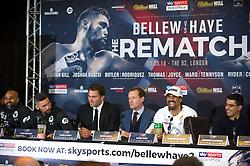 May 3, 2018 - London, London, United Kingdom - Bellew vs David Haye press conference. ..Tony Bellew vs David Haye press conference at Park Plaza hotel. (Credit Image: © Gustavo Valiente/i-Images via ZUMA Press)