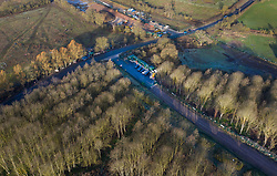 VIDEO AVAILABLE : https://we.tl/t-SQVmqbvcNl© Licensed to London News Pictures. 29/01/2020. London, UK. An access road for the High Speed Two (HS2) rail line works has been built through a wooded area near Newyears Green in the London Borough of Hillingdon.  A government decision is expected soon on whether the HS2 rail project will fully go ahead with some budget estimates showing a cost of £70-£80bn. Photo credit: Peter Macdiarmid/LNP