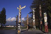 Totem Poles, Stanley Park, Vancouver, B.C. Canada<br />
